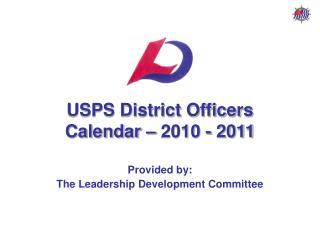 USPS Region Officers Logbook