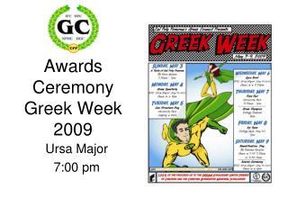 Grants Service Greek Week 2009