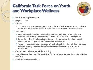 California Team on Youth and Work environment Health