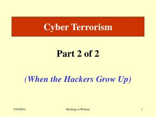 Digital Terrorism