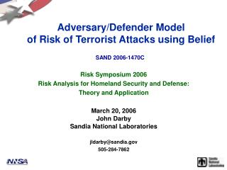 Foe/Shield Model of Danger of Terrorist Assaults utilizing Conviction