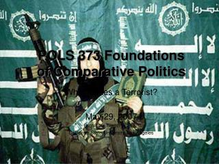 POLS 373 Establishments of Near Governmental issues