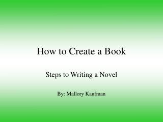 The most effective method to Make a Book