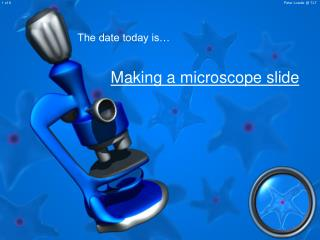 Making a magnifying instrument slide