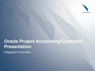 Prophet Venture Bookkeeping/Contracts Presentation