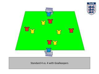 Standard 4 versus 4 with Goalkeepers
