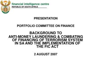 PRESENTATION PORTFOLIO Board of trustees ON Account Foundation TO