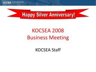 KOCSEA 2008 Conference