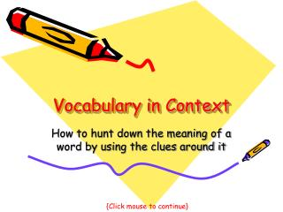Vocabulary in Setting