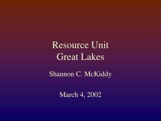 Asset Unit Awesome Lakes