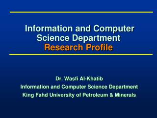 Data and Software engineering Office Research Profile
