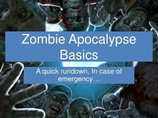 Zombie End of the world Fundamentals