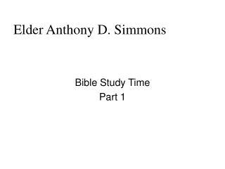 Senior Anthony D. Simmons