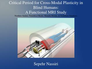 Basic Period for Cross-Modular Versatility in Visually impaired People: An Utilitarian X-ray Study Norihiro Sadato, Tomo