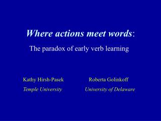 Where activities meet words :