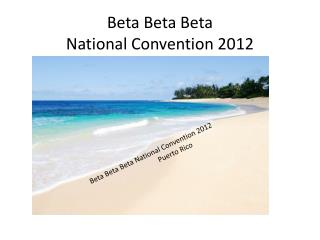 Beta National Tradition 2012