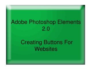 Adobe Photoshop Components 2.0 Making Catches For Sites