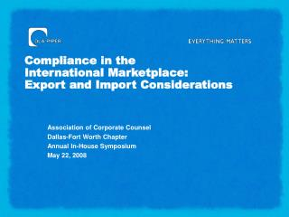Consistence in the Universal Commercial center: Fare and Import Contemplations