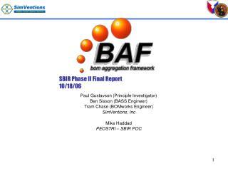 SBIR Stage II Last Report 10/18/06