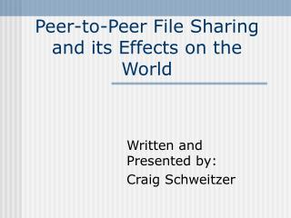 Distributed Record Sharing and its Consequences for the World