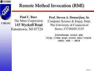 Remote Strategy Conjuring (RMI)