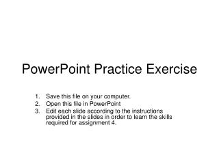 PowerPoint Rehearse Exercise