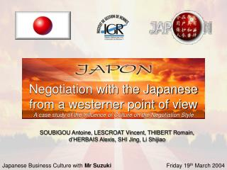 Transaction with the Japanese from a westerner perspective A ...