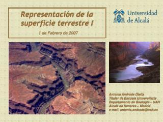 Representaci n de la superficie terrestre I 1 de Febrero de 2007
