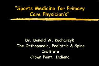 Games Medicine for Primary Care Physician