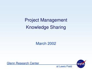 Venture Management Knowledge Sharing
