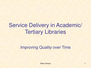 Administration Delivery in Academic
