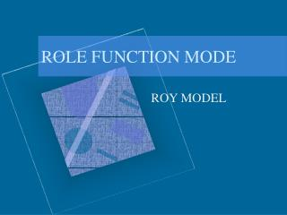 Part FUNCTION MODE