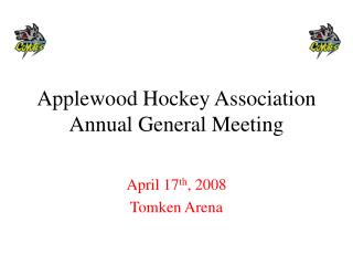 Applewood Hockey Association Annual General Meeting
