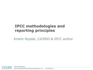 IPCC procedures and reporting standards
