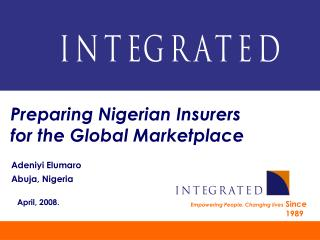 Planning Nigerian Insurers for the Global Marketplace