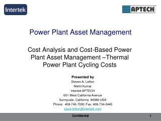 Force Plant Asset Management