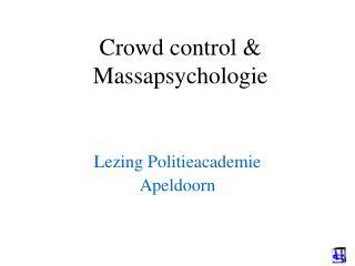 Group control Massapsychologie