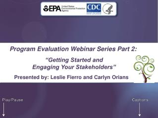 Program Evaluation Webinar Series Part 2: