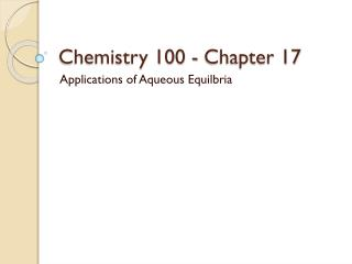 Science 100 - Chapter 17