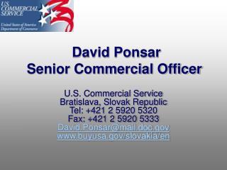 David Ponsar Senior Commercial Officer