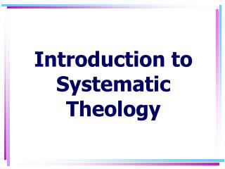 Prologue to Systematic Theology
