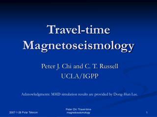 Travel-time Magnetoseismology