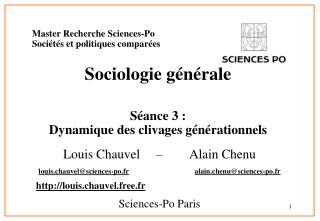 Expert Recherche Sciences-Po Soci t s et politiques compar es Sociologie g n rale S ance 3 : Dynamique des clivages g