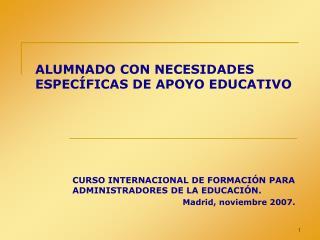 ALUMNADO CON NECESIDADES ESPEC FICAS DE APOYO EDUCATIVO