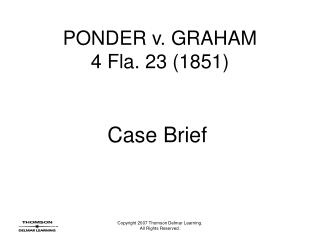 Contemplate v. GRAHAM 4 Fla. 23 1851