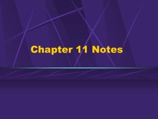 Part 11 Notes