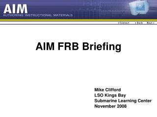 Point FRB Briefing