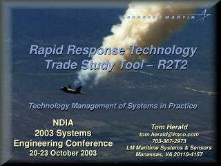 NDIA 2003 Systems Engineering Conference 20-23 October 2003