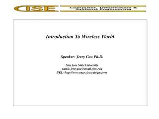 Prologue To Wireless World