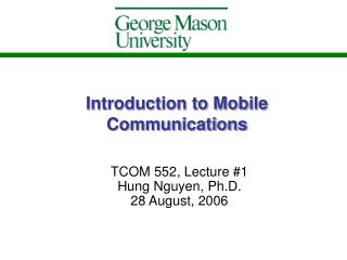 Prologue to Mobile Communications